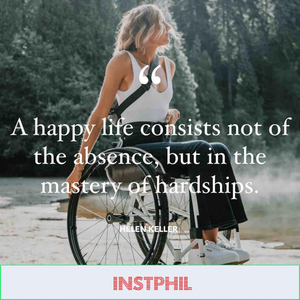 """""""A happy life consists not in the absence, but in the mastery of hardships"""""""