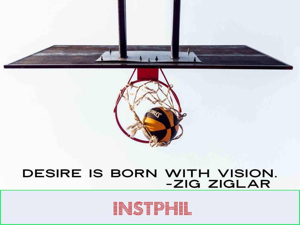 "Zig Ziglar quote ""Desire is born with vision"""