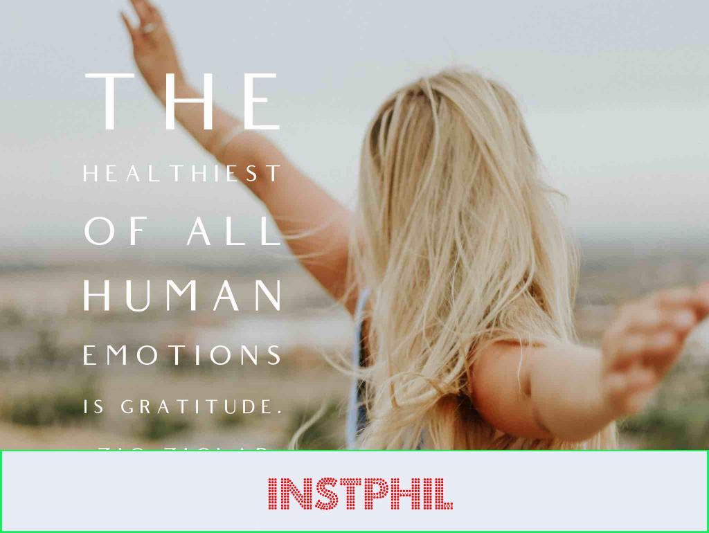 """Zig Ziglar quote """"The healthiest of all human emotions is gratitude"""""""