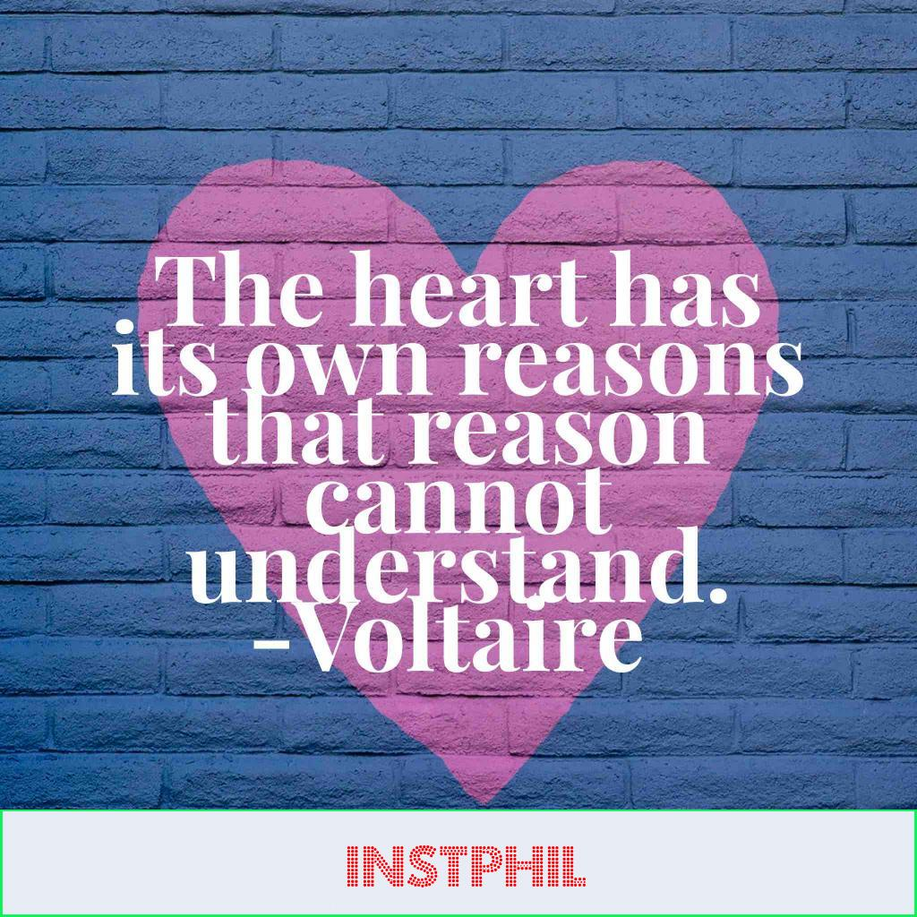 """""""The heart has its own reasons that reason can't understand"""""""