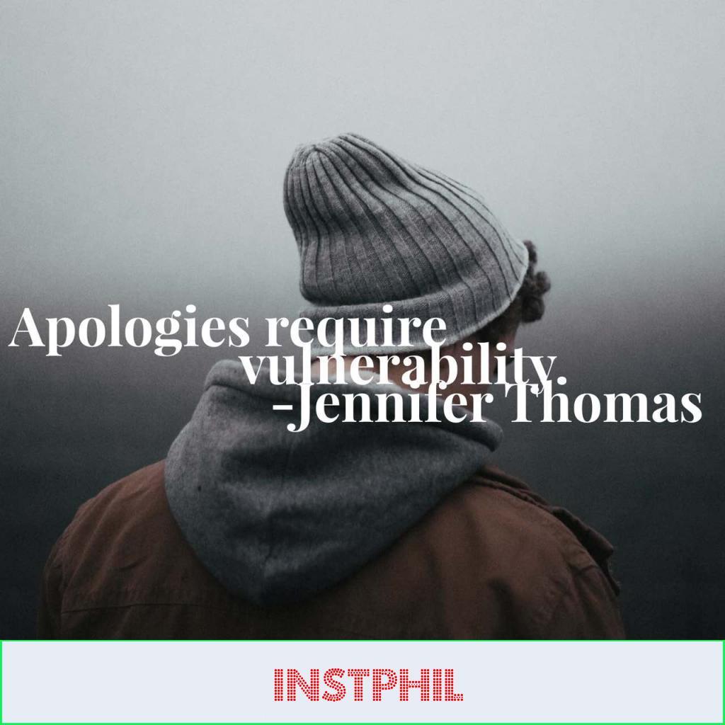 "Jennifer Thomas apology quote ""Apologies require vulnerability"""