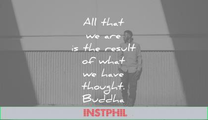 famous quotes all that are the result what have thought buddha wisdom