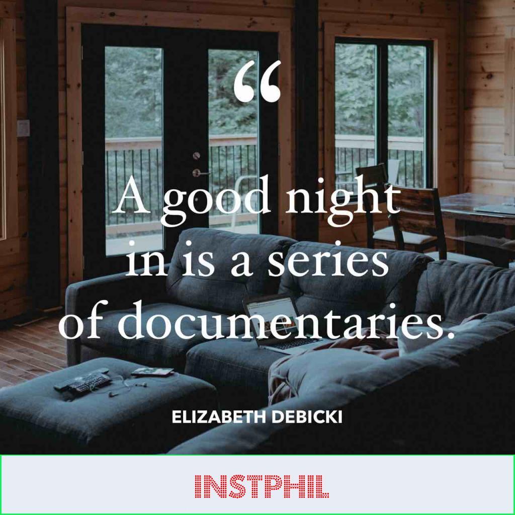 "Elizabeth Debicki quote ""A good night in is a series of documentaries"""
