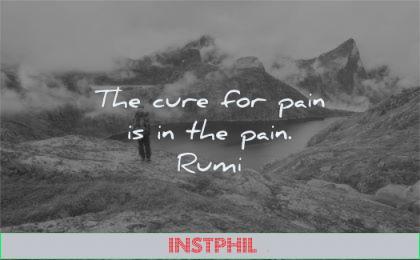 pain quotes cure pain rumi wisdom nature