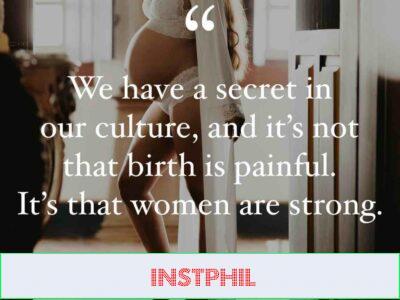Laura Harm birth quote
