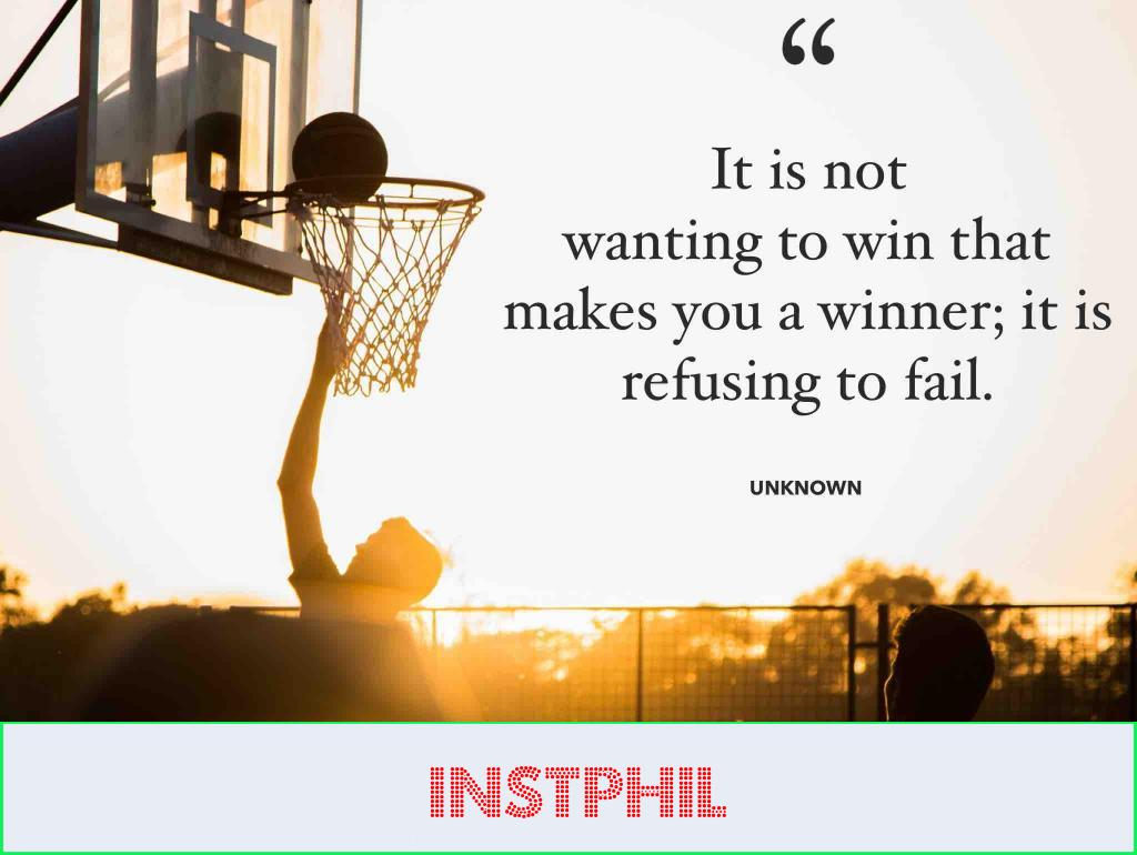 """""""It is not wanting to win that makes you a winner; it is refusing to fail"""""""
